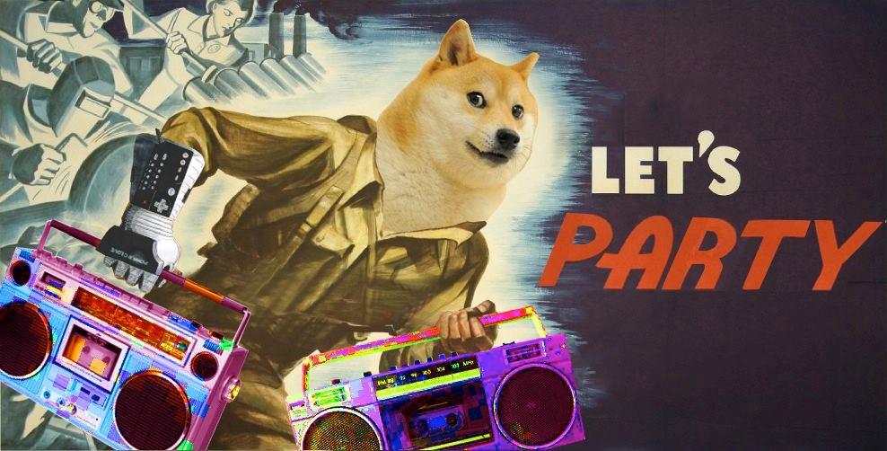 Party Doge Bigger